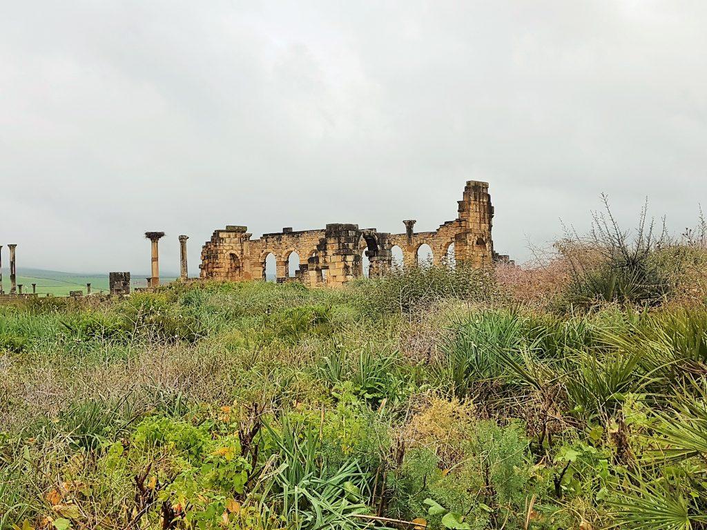 Ruine inmitten grüner Landschaft