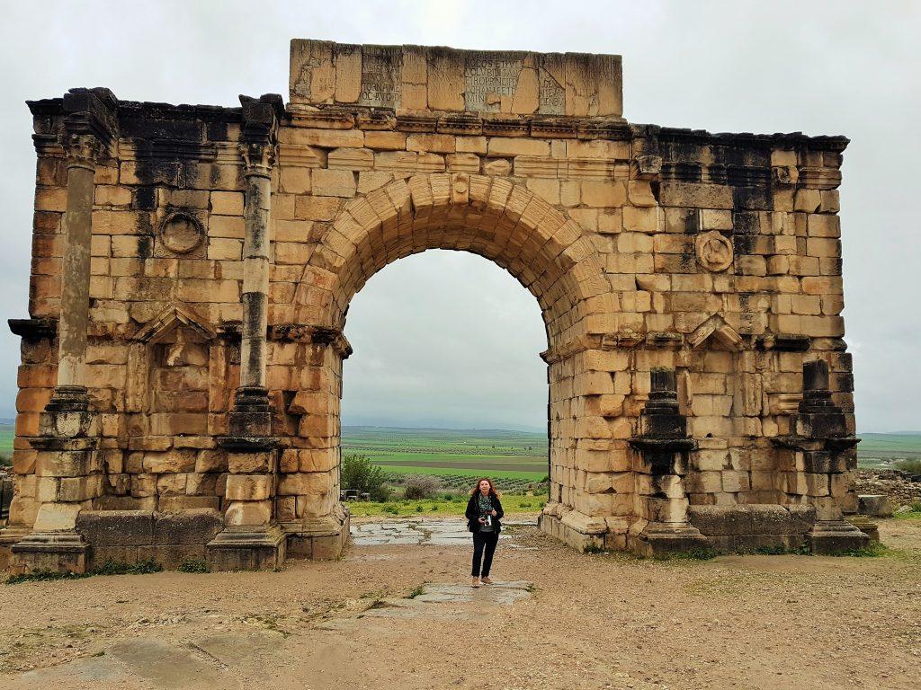 Triumphbogen von Volubilis Marokko
