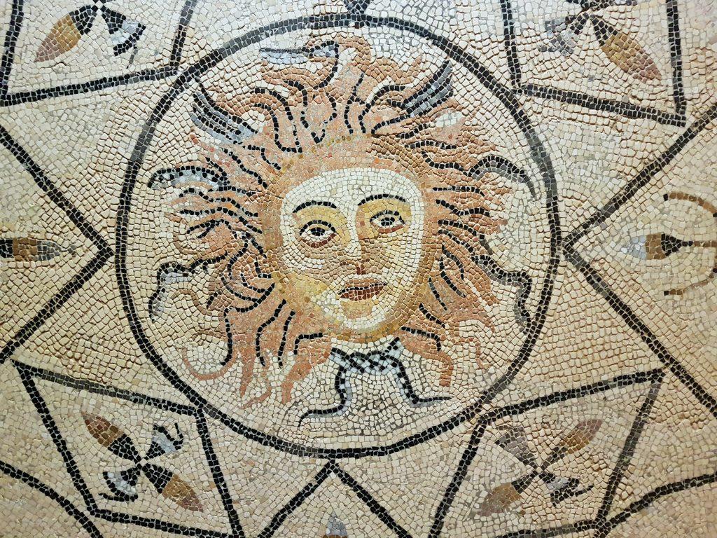 Mosaik von Weltkulturerbe Volubilis Marokko