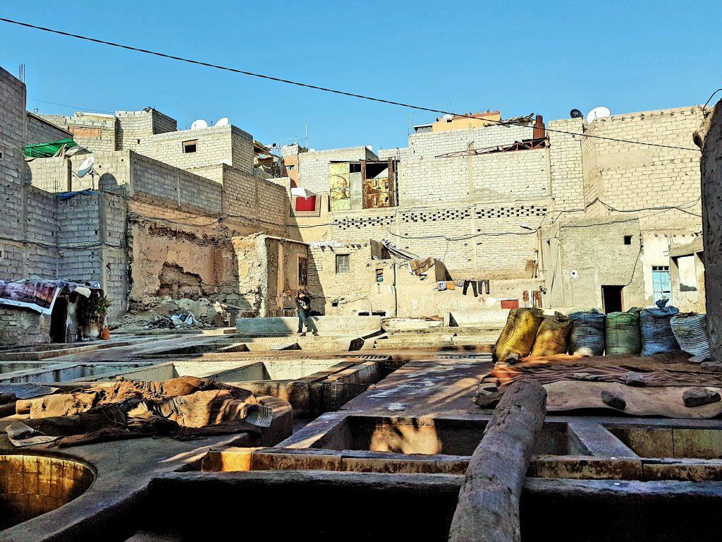 Gerberei mit Becken in Marrakesch