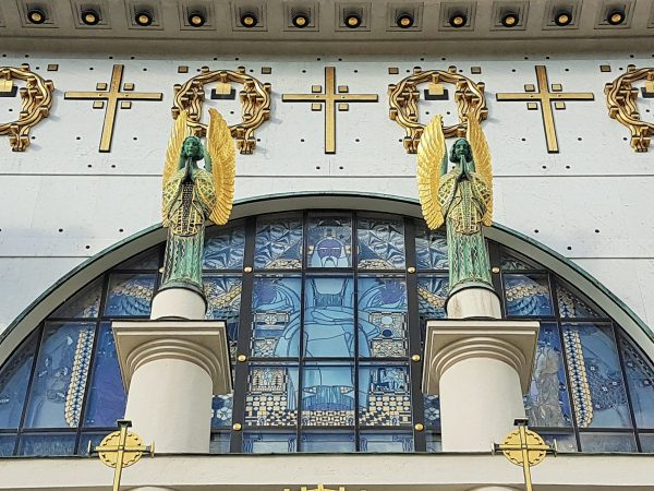Jugendstil Portal der Kirche am Steinhof