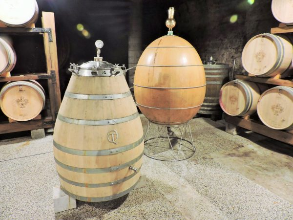 Weinfässer in der Wein Region Goriška Brda