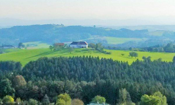 Weitblick über grüne Landschaft des Mühlviertels