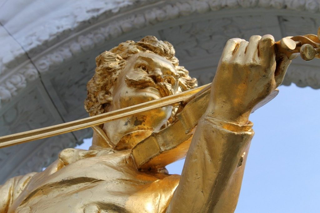 Johann Strauß Denkmal in Wien
