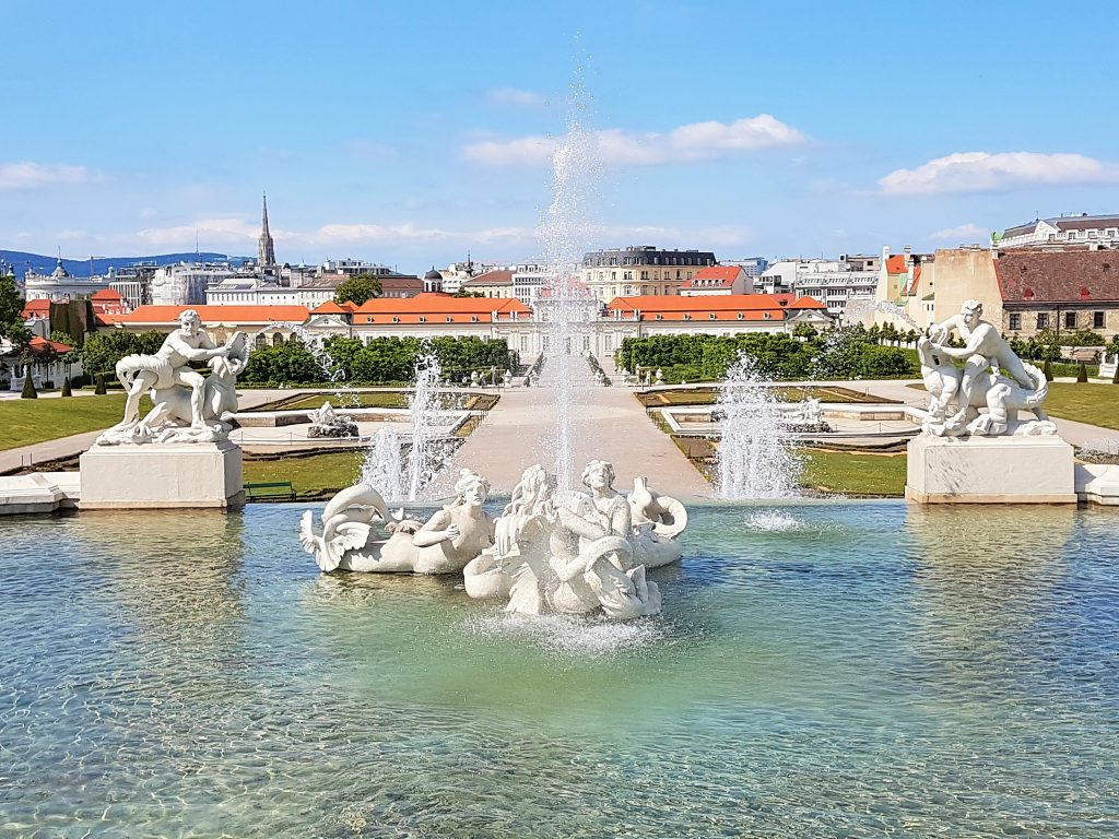 Belvedere Schlossanlage Wien Springbrunnen