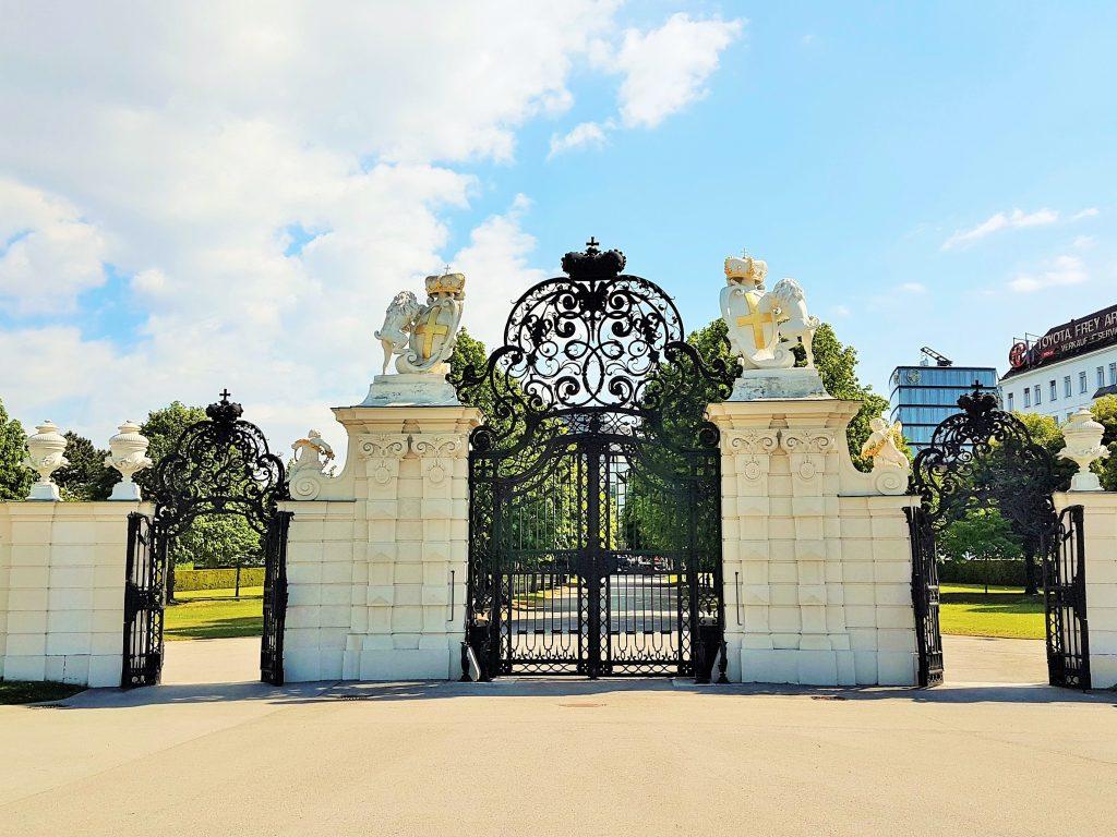 Eingangstor Oberes Belvedere Schloss, Belvedere Schlossanlage