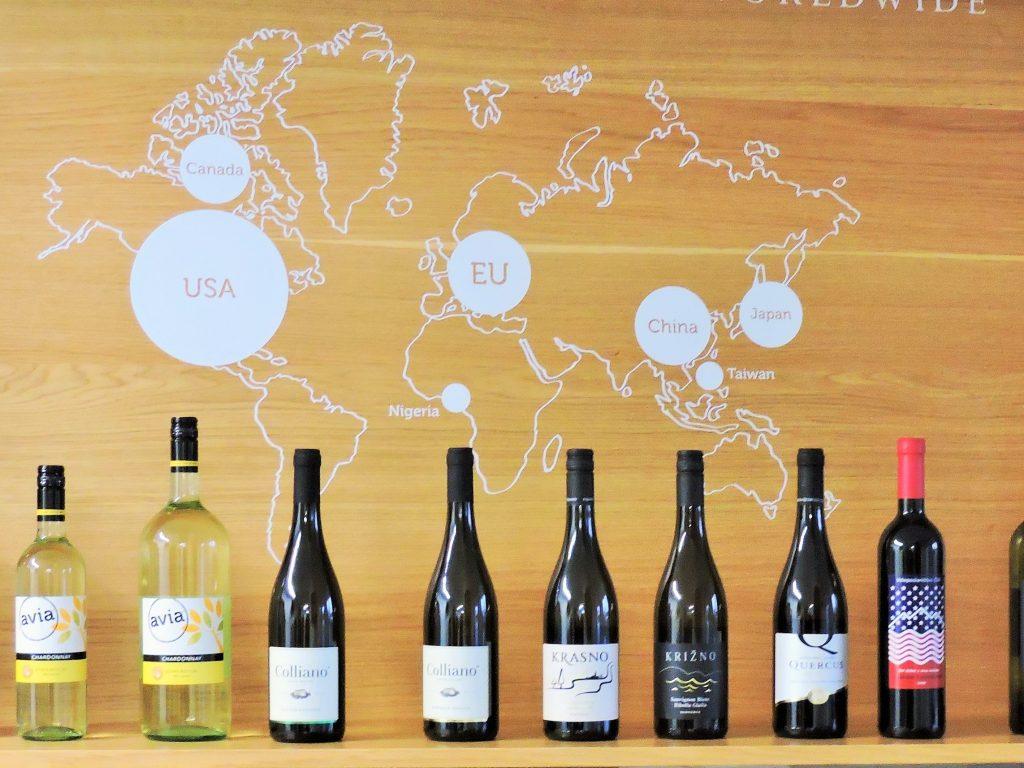 Slowenien Weingut Klet Brda, ausgestellte Weine