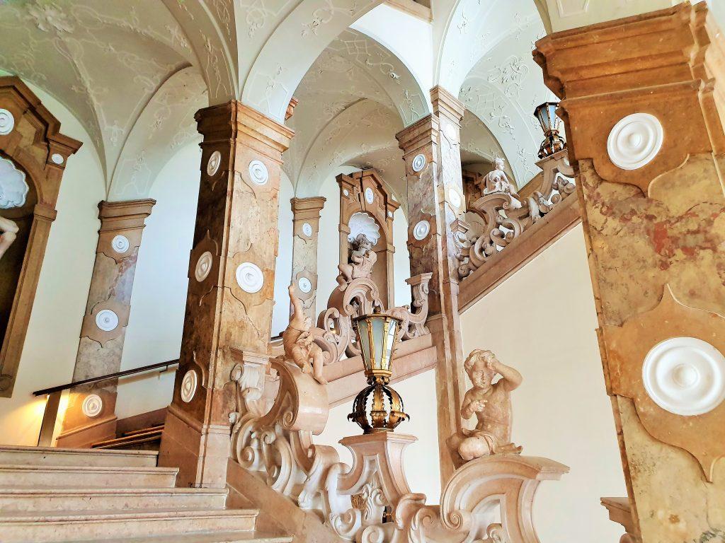 barocker Treppenaufgang, Schloss Mirabell Salzburg