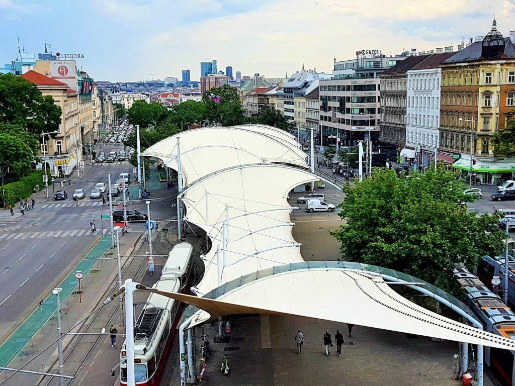 Rooftop Locations mit Blick über die Gürtelspange