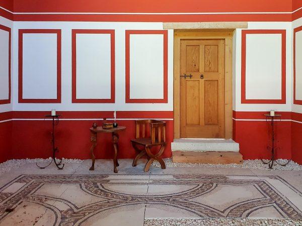 Raum einer antiken römischen Villa