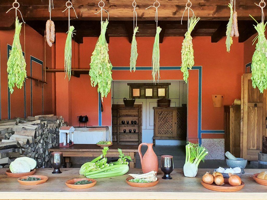 antike römische Küche in Carnuntum
