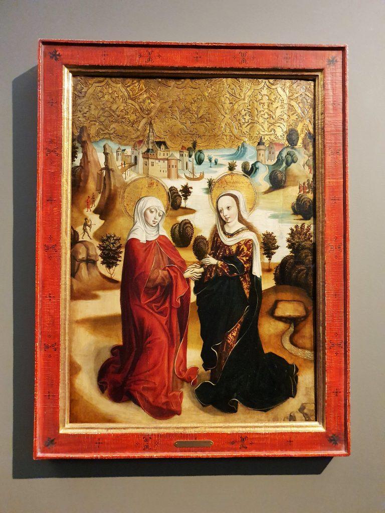 gotisches Marien-Gemälde