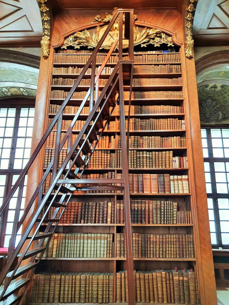 historische Bibliothek mit Leiter davor