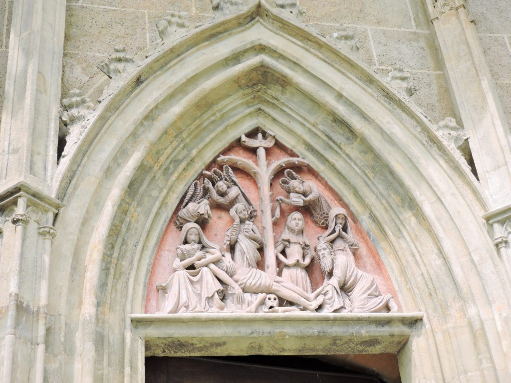 Relief Kirchenportal Wallfahrtskirche Straßengel