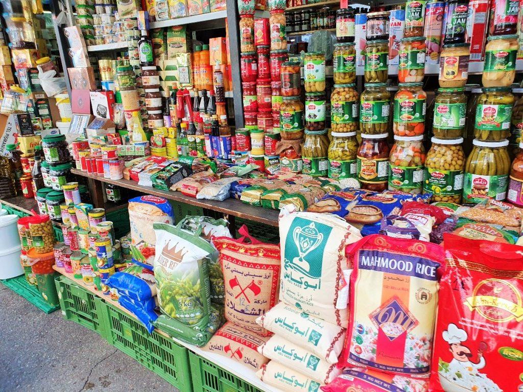 orientalischer Lebensmittelstand