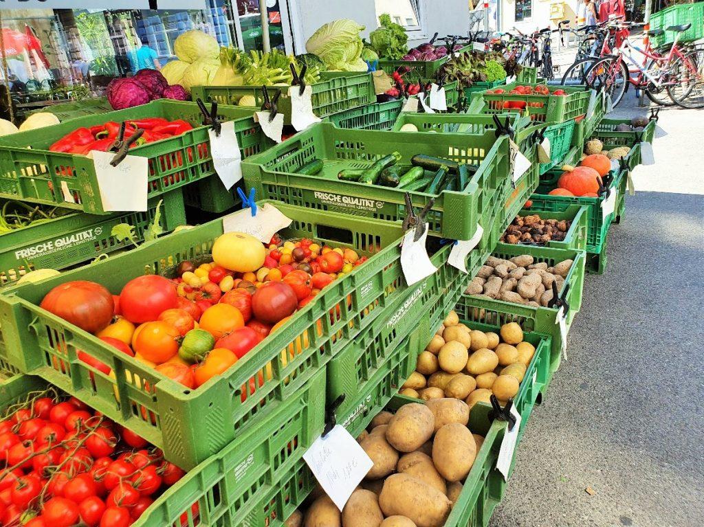 Gemüsestand am Brunnenmarkt Wien