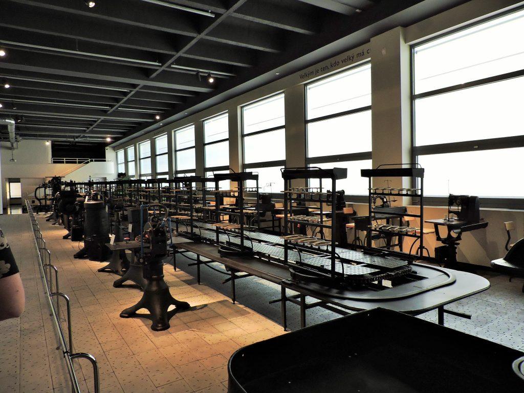 Museum mit der Laufband-Schuhfabrikation