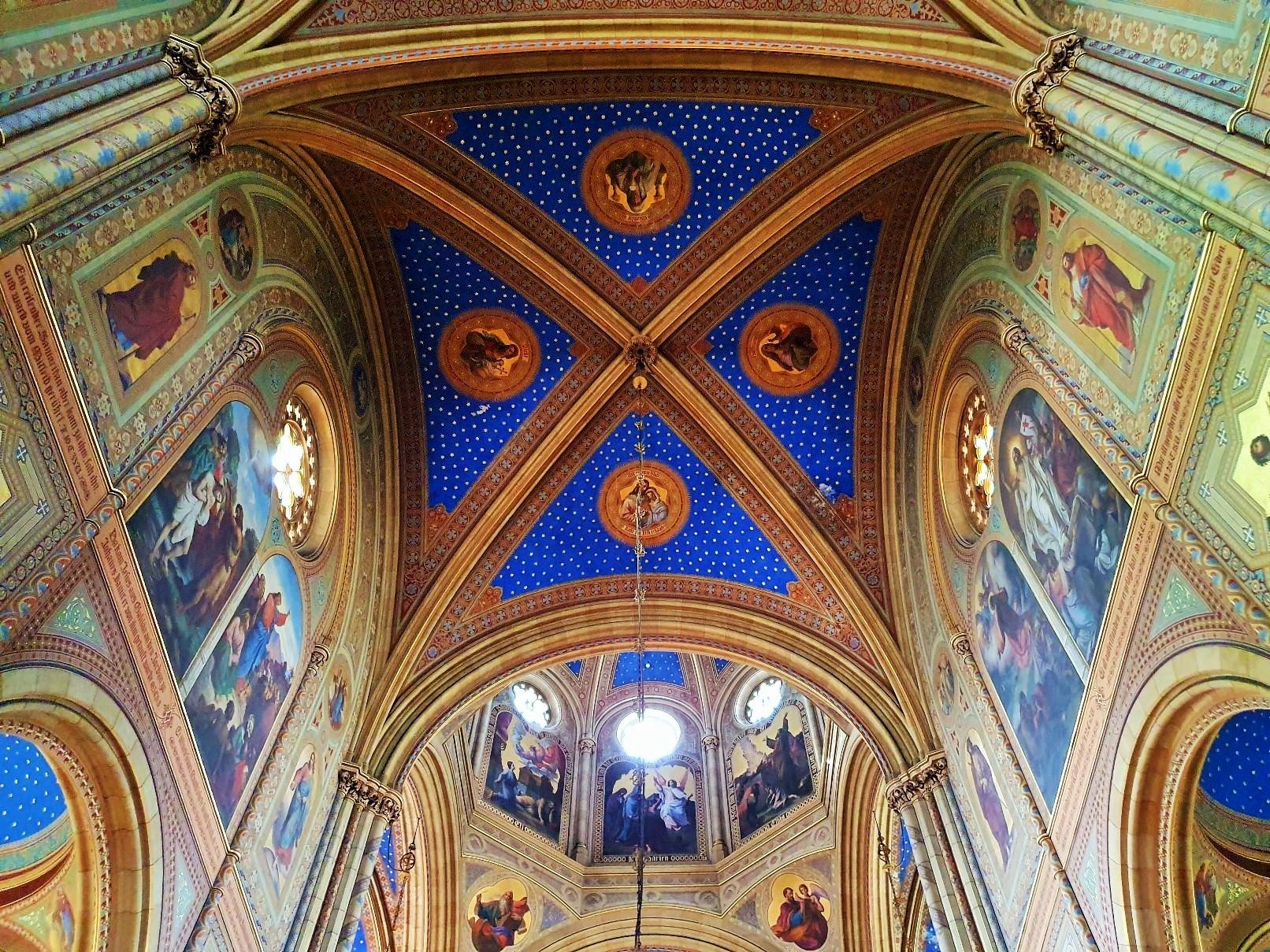 ornament Decke der Altlerchenfelder Kirche Wien