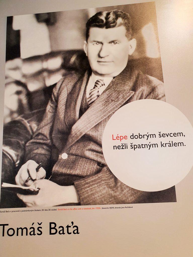 historisches Plakat mit Tomas Bata
