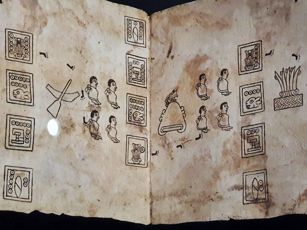 Faksimile mit aztekischer Bilderschrift