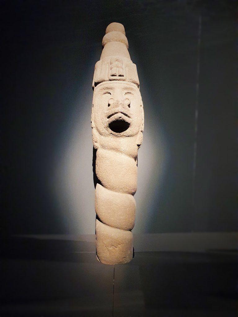 Windgott Statue der Azteken