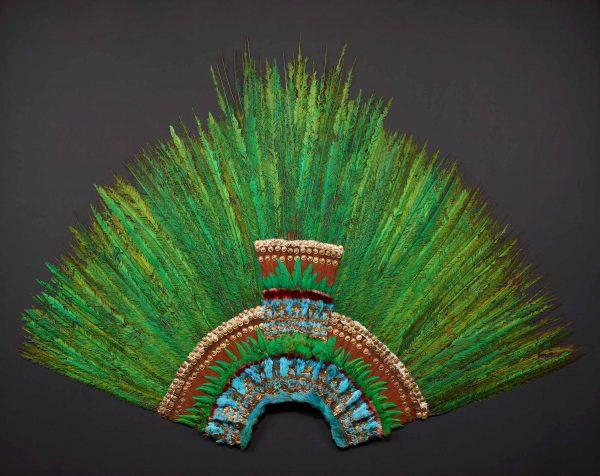 aztekische Federkrone Weltmuseum Wien Ausstellung