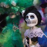 lustige Skelettdarstellung für Santos Todos, Totenkult in Mexico