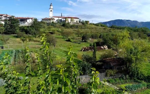 Urlaubstrend Glampyarding in Slowenien, grüne hügelige Landschaft