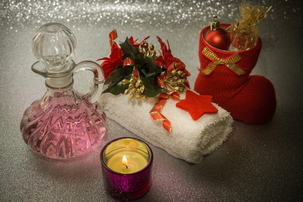 Geschenksideen Massageöl und Handtuch