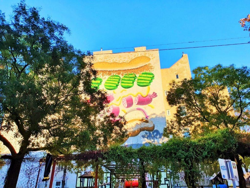Streetart Mural Andreaspark Wien
