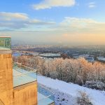 der Leopoldsberg als Winter Ausflugsziel mit weitem Ausblick