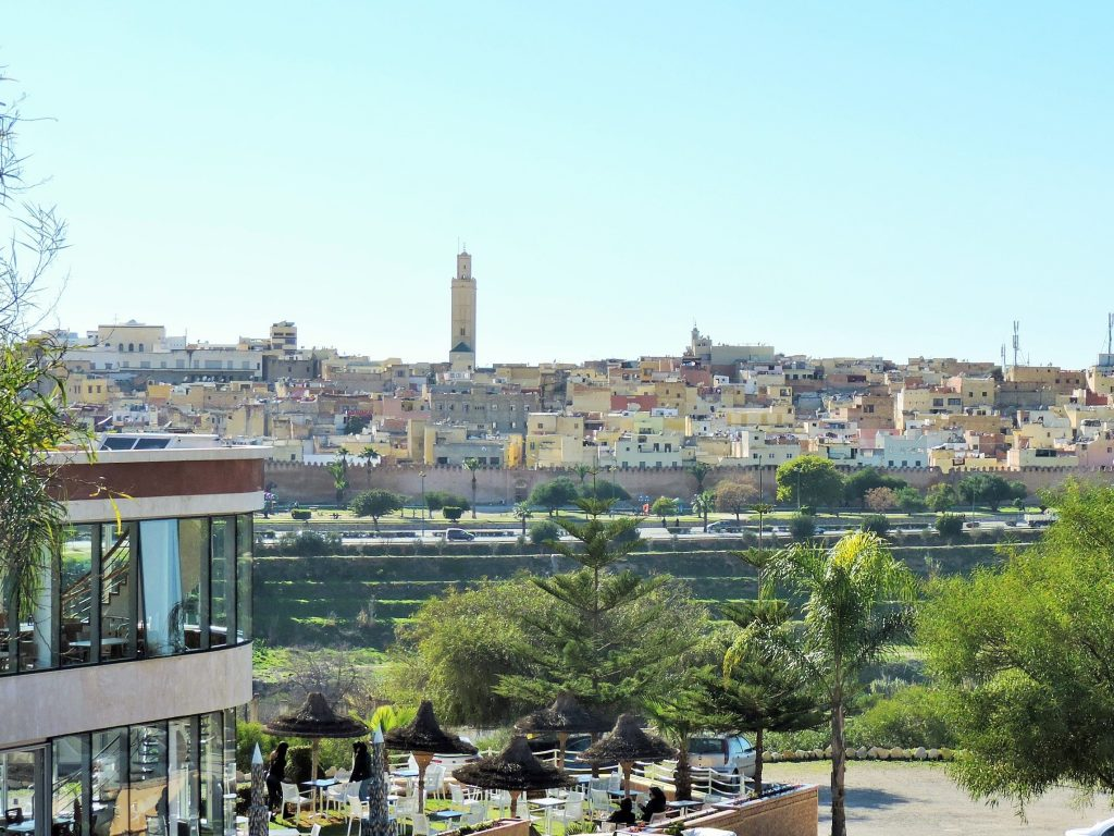 Blick auf die Stadt Meknes, Marokko