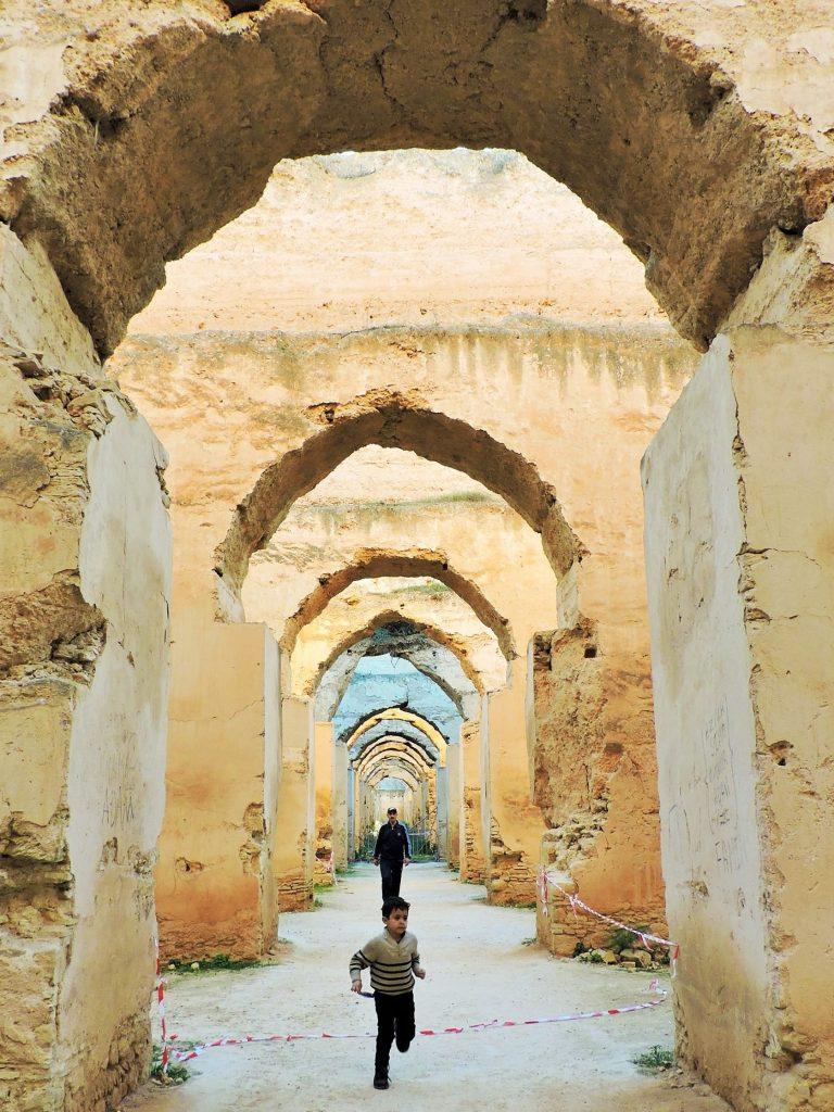 historische Stallungen in Meknes, Marokko