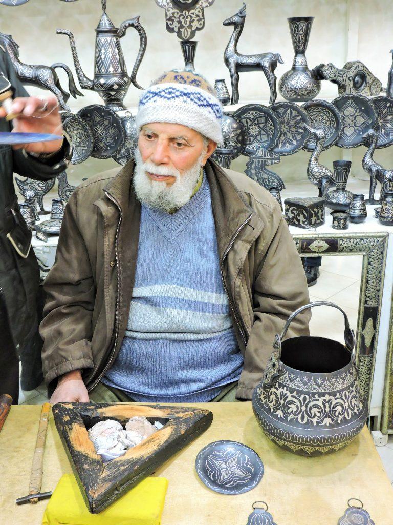 alter marokkanischer Silber-Handwerker