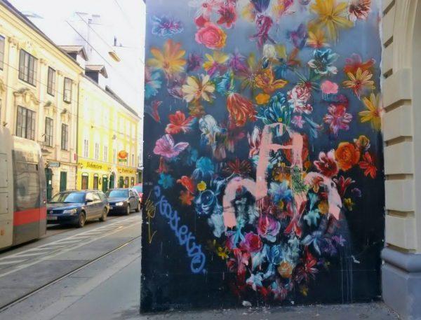 buntes schönes Wand-Graffiti