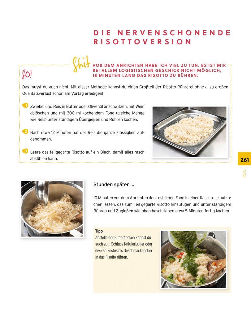 eine Seite aus einem Kochbuch