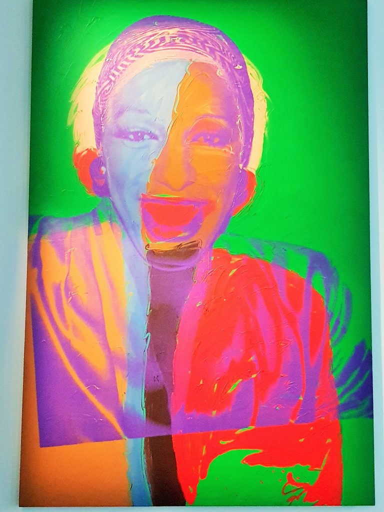 buntes Bild des Pop Art Künstlers Andy Warhol