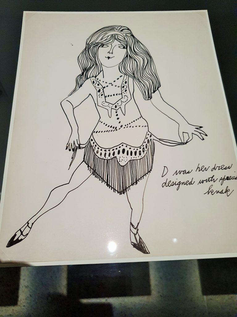 Frauen-Portrait Zeichnung von Andy Warhol