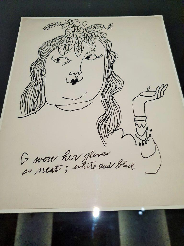 Frauen-Portrait Zeichnung, Andy Warhol Ausstellung Wien