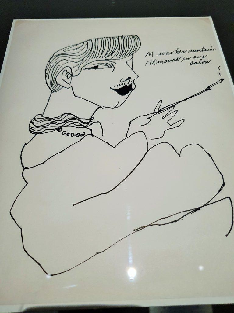 Frauen Zeichnung von Andy Warhol
