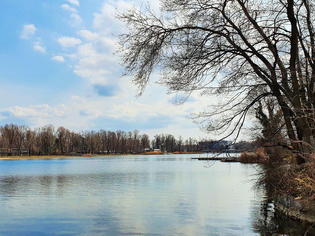 Alte Donau Spaziergang am Wasser