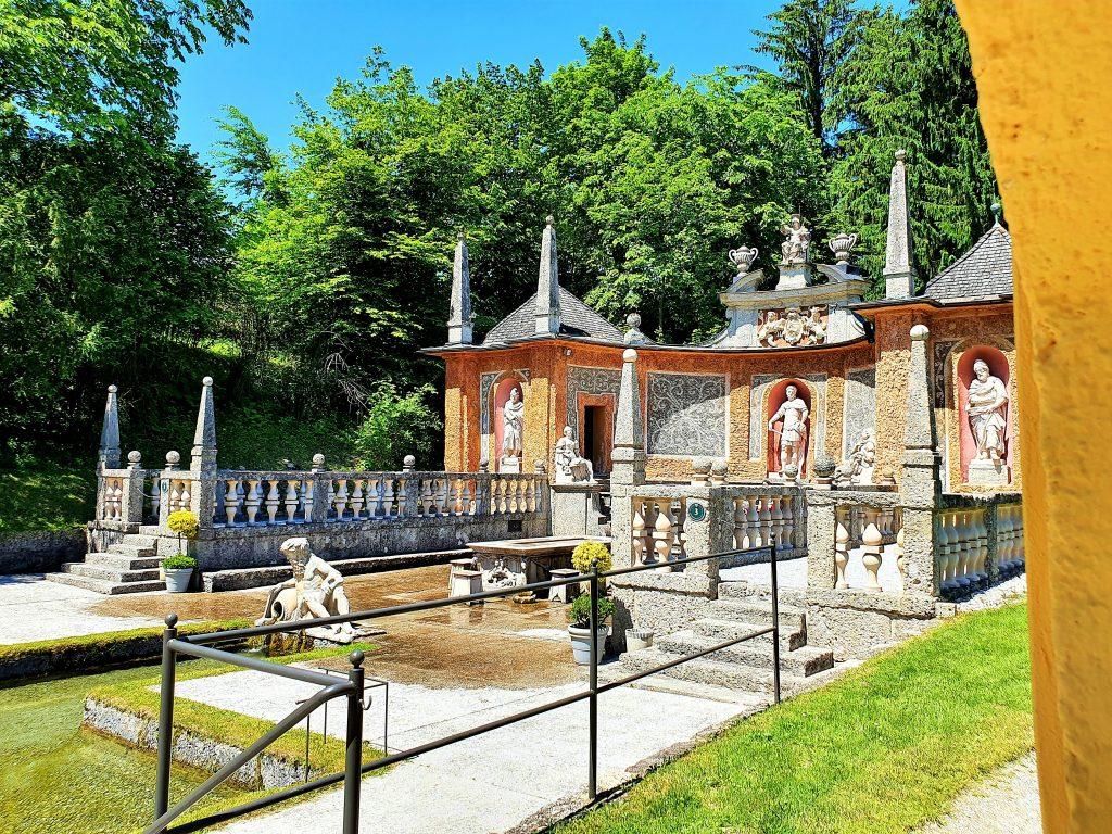 historische Wasserspiele in Hellbrunn