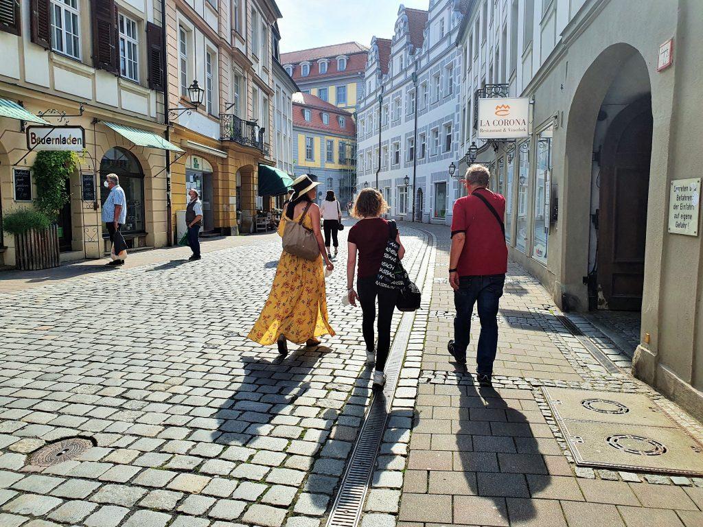 Spaziergang durch die Altstadt Ansbach, Franken