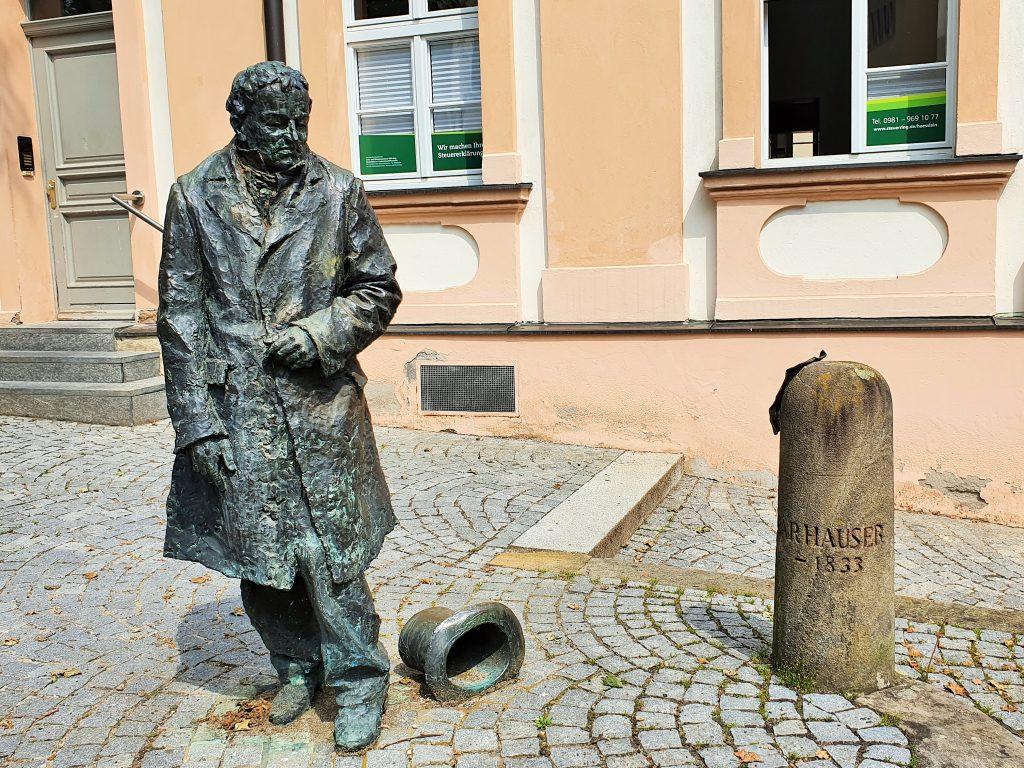 Denkmal von Kasper Hauser in Ansbach