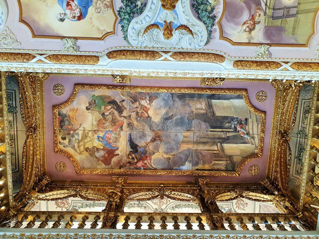 barocker Bernardi-Saal mit Fresken, Stift Stams