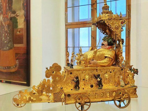goldene Kuriosität aus der Schatzkammer von Burg Forchtenstein