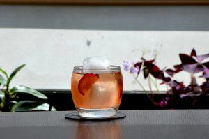 Getränk mit Wermut in einem Glas